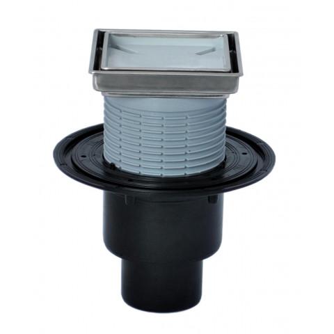 Трап HL (Hutterer Lechner) 310NPr-3020 с вкладышем для вклеивания плитки и сифоном Primus