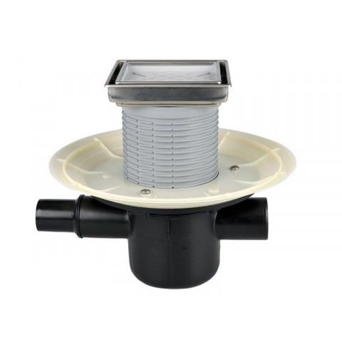 Трап HL (Hutterer Lechner) 300-3020 с декоративной решеткой под плитку, обратным клапаном