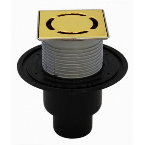 Трап HL (Hutterer Lechner) 310NPr-3000.11 с позолоченной решеткой из нерж стали 115х115 мм