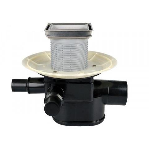 Трап HL (Hutterer Lechner) 70-3020 с обратным клапаном с декоративной решеткой под плитку