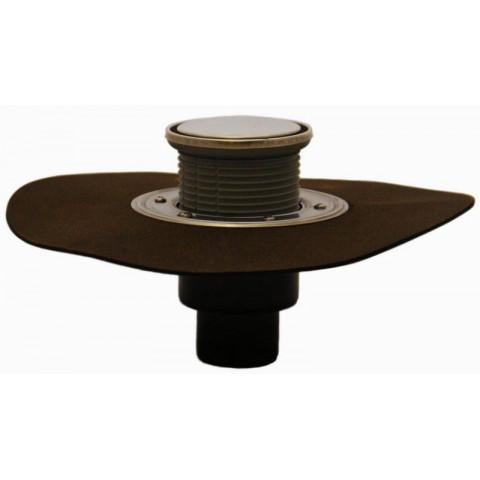 Трап HL (Hutterer Lechner) 310NHPrR с круглой решеткой из нерж стали и сифоном Primus