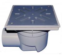 Дворовый трап HL (Hutterer Lechner) 605L решетка из ПП, нагрузка до 1,5 тонн