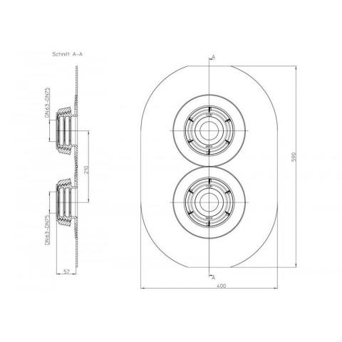 Эластичная мембрана сдвоенная HL (Hutterer Lechner) 800.2/63-75 уплотнительная