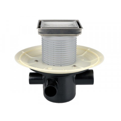 Трап HL (Hutterer Lechner) 304-3020 с декоративной решеткой под плитку и обратным клапаном