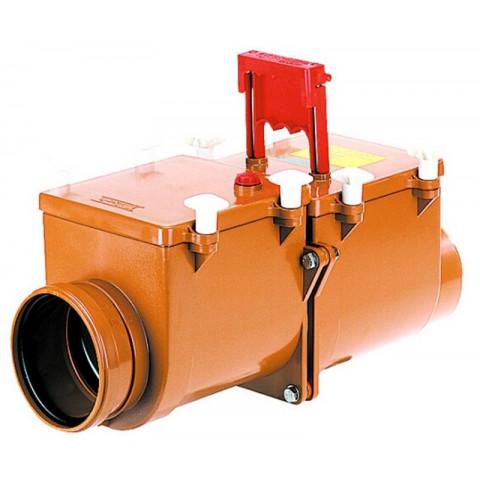Канализационный затвор HL (Hutterer Lechner) 710.2 механический 2-х камерный с заслонкой и фиксацией DN 110