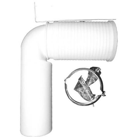 Отводящий патрубок HL (Hutterer Lechner) 224.1 для консольных унитазов 90° длина 300 мм DN 110