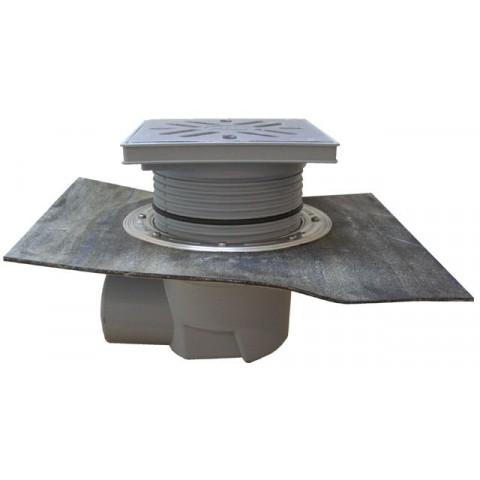 Дворовый трап HL (Hutterer Lechner) 615HS решетка из нерж стали, нагрузка до 1,5 тонн, битумное полотно