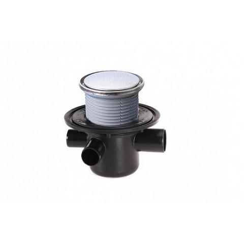 Трап HL (Hutterer Lechner) 304R с обратным клапаном, круглой решеткой и гидрозатвором