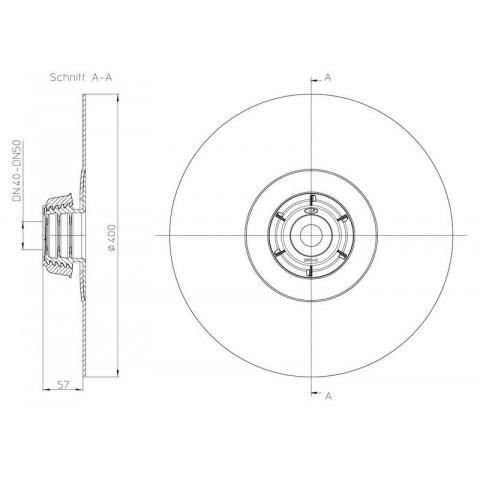 Эластичная мембрана HL (Hutterer Lechner) 800/40-50 уплотнительная