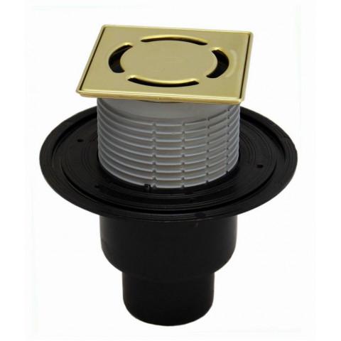 Трап HL (Hutterer Lechner) 310NPr-3000.3 решетка латунь из нерж стали 115х115 мм