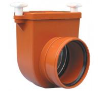 Канализационный затвор HL (Hutterer Lechner) 710.0 механический для колодцев с заслонкой и лючком DN 110