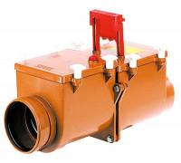 Канализационный затвор HL (Hutterer Lechner) 712.2 механический 2-х камерный с заслонкой и фиксацией DN 125