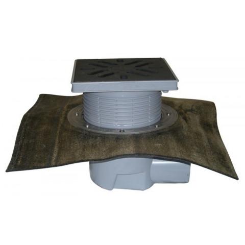 Дворовый трап HL (Hutterer Lechner) 615H чугунная решетка, нагрузка до 7 тонн, битумное полотно