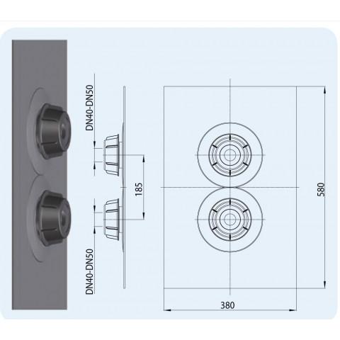 Эластичная мембрана сдвоенная HL (Hutterer Lechner) 800.2/40-50 уплотнительная