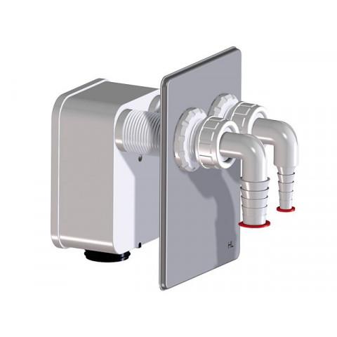 Сифонный блок HL (Hutterer Lechner) 4000.2 к сифону HL4000.0 для двух стиральных, сушильных или посудомоечных машин
