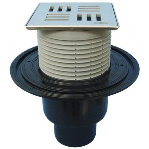 Трап HL (Hutterer Lechner) 310NPr-3124 с дизайн-решеткой Нил из нерж стали 115х115 мм